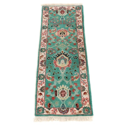 2'75 x 8'1 Hand-Knotted Indo-Persian Carpet Runner