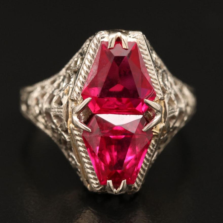 14K Ruby Openwork Ring