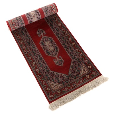 2'6 x 11'3 Hand-Knotted Persian Sarouk Carpet Runner