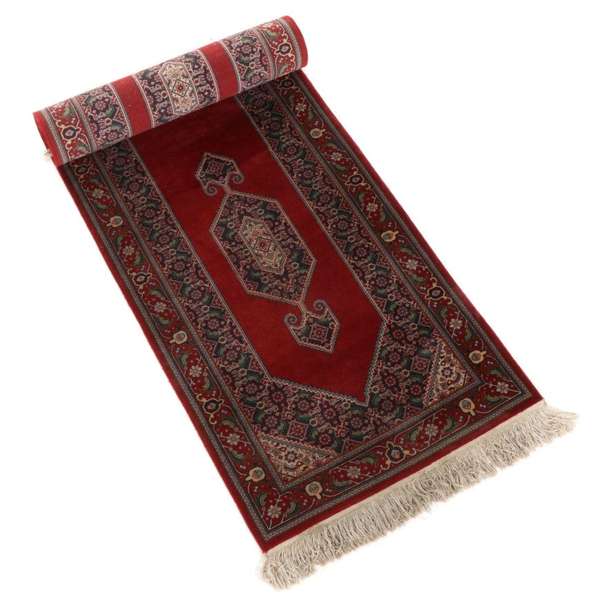 2'6 x 11'3 Hand-Knotted Persian Sarouk Carpet Runner