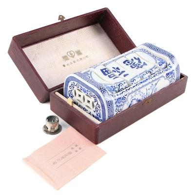 Japanese Takamakura Porcelain Pillow with Presentation Box