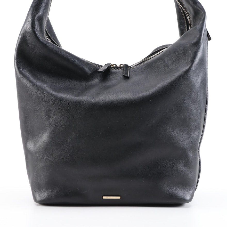 Gucci Large Hobo Bag in Black Calfskin Leather