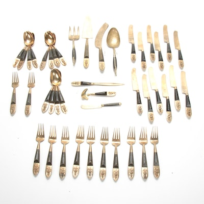Anant Thailand Brass and Wood Handled Flatware
