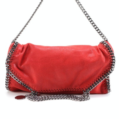 Stella McCartney Falabella Fold-Over Two Way Tote in Red