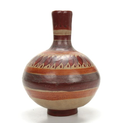 Southwestern Style Hand-Crafted Pottery Vessel