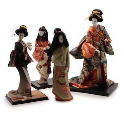 "Japanese ""Silk-faced"" Collectors Dolls, Circa 1960"