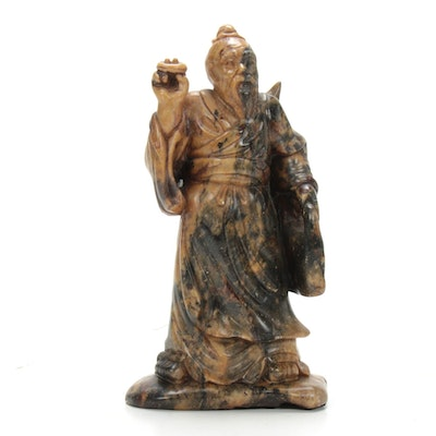 Chinese Carved Hardstone Figure Sculpture