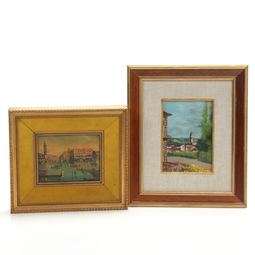 European Landscapes Oil Paintings, 20th Century