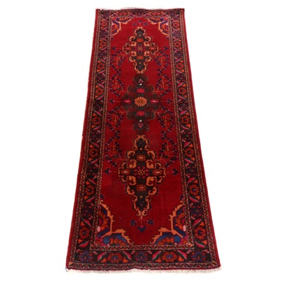 3'5 x 9'11 Hand-Knotted Persian Hamadan Carpet Runner