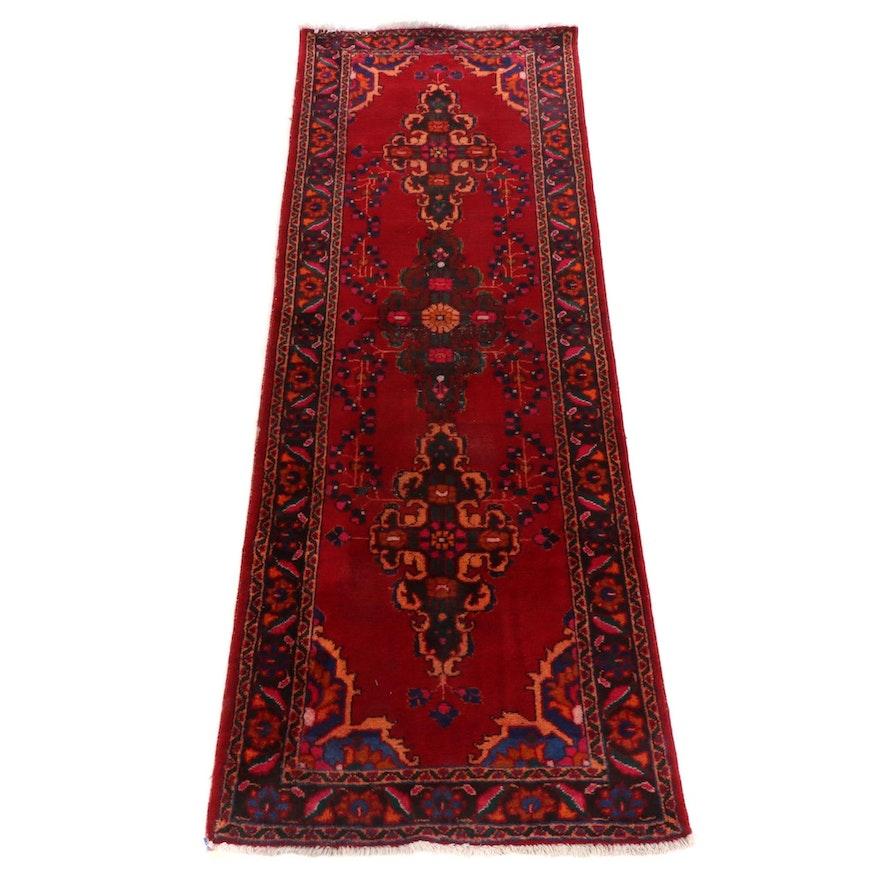 3'5 x 9'11 Hand-Knotted Persian Hamadan Carpet Runner