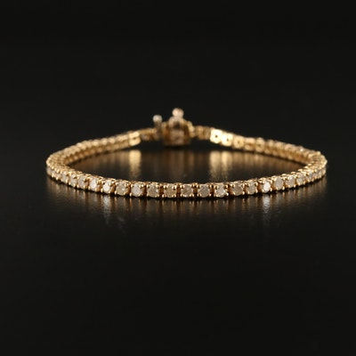 14K 3.02 CTW Round Brilliant Diamond Prong Set Bracelet