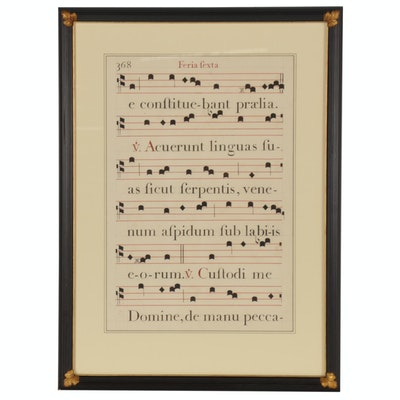 "Gregorian Chant Print from ""Small Missal"""
