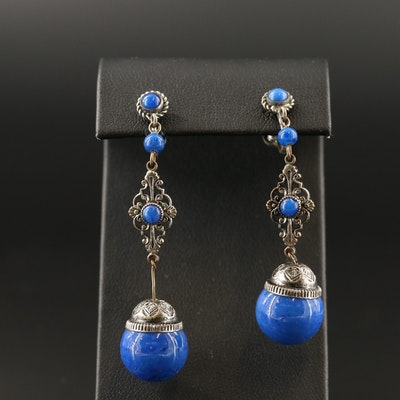 Dangle Earrings with Openwork Detail for Non Pierced Ears