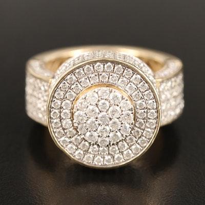 10K 5.02 CTW Diamond Pavé Ring