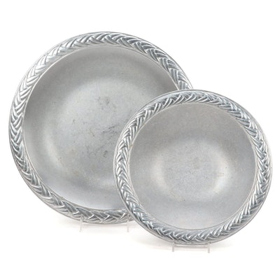 Wilton Cast Aluminum Decorative Bowls, 20th Century