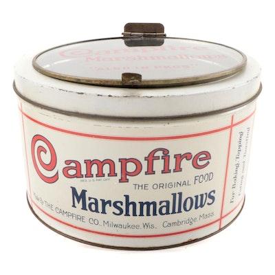 Campfire Marshmallows Tin, Early to Mid 20th Century