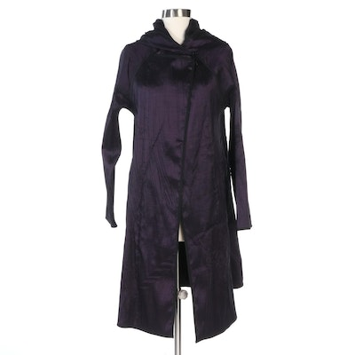 Myra Pac Reversible Swing Jacket in Textured Aubergine and Black