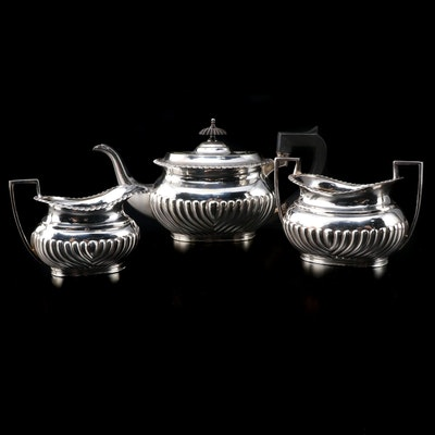 Mappin Brothers Georgian Style Silver Plate Tea Set, Mid to Late 19th Century