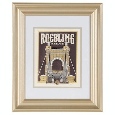 "James Billiter Giclée ""Roebling Bridge"", 21st Century"