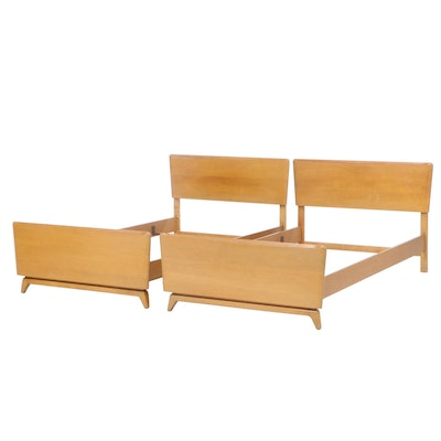 "Heywood Wakefield ""Encore"" Birch Twin Sized Bed Frames, Mid-20th Century"