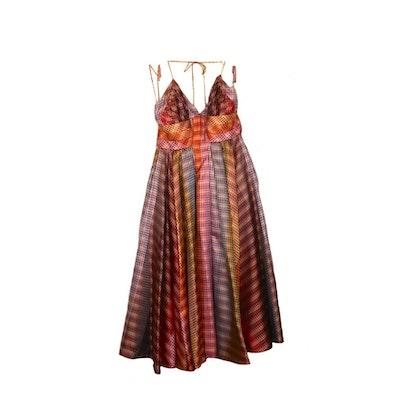 Zac Posen Silk Empire Waist Halter Dress