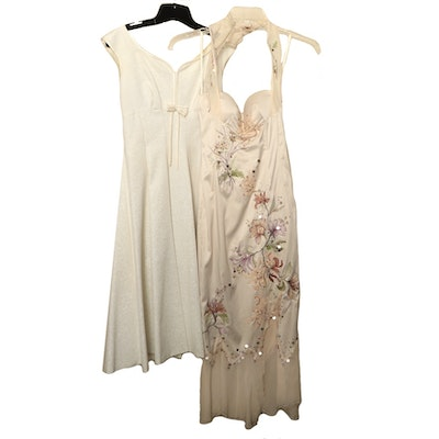 Jane Parker Empire Waist Dress and Mandalay Embroidered Dress