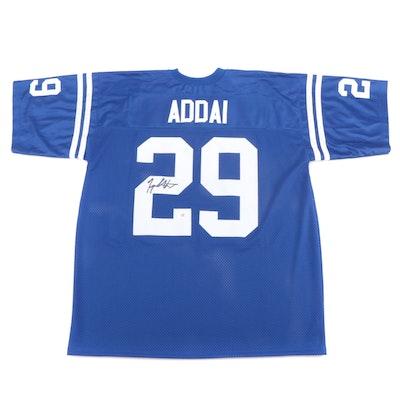 Joseph Addai Signed Replica Indianapolis Colts Jersey  COA