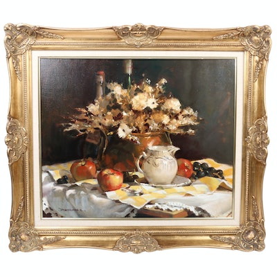 Robert Brubaker Tablescape Oil Painting