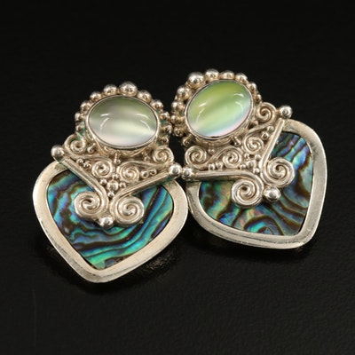 Sajen Sterling Abalone Drop Earrings