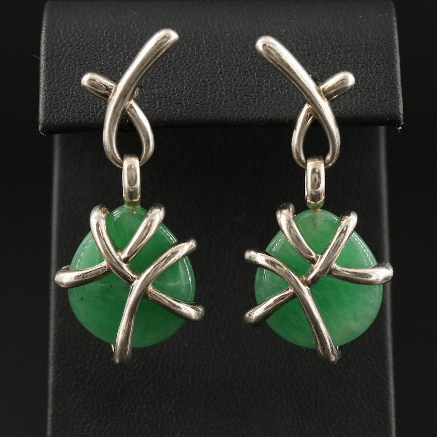 Sterling Quartz Drop Earrings