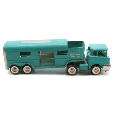 Structo Vista Dome Horse Van and Truck Cab, 1960s