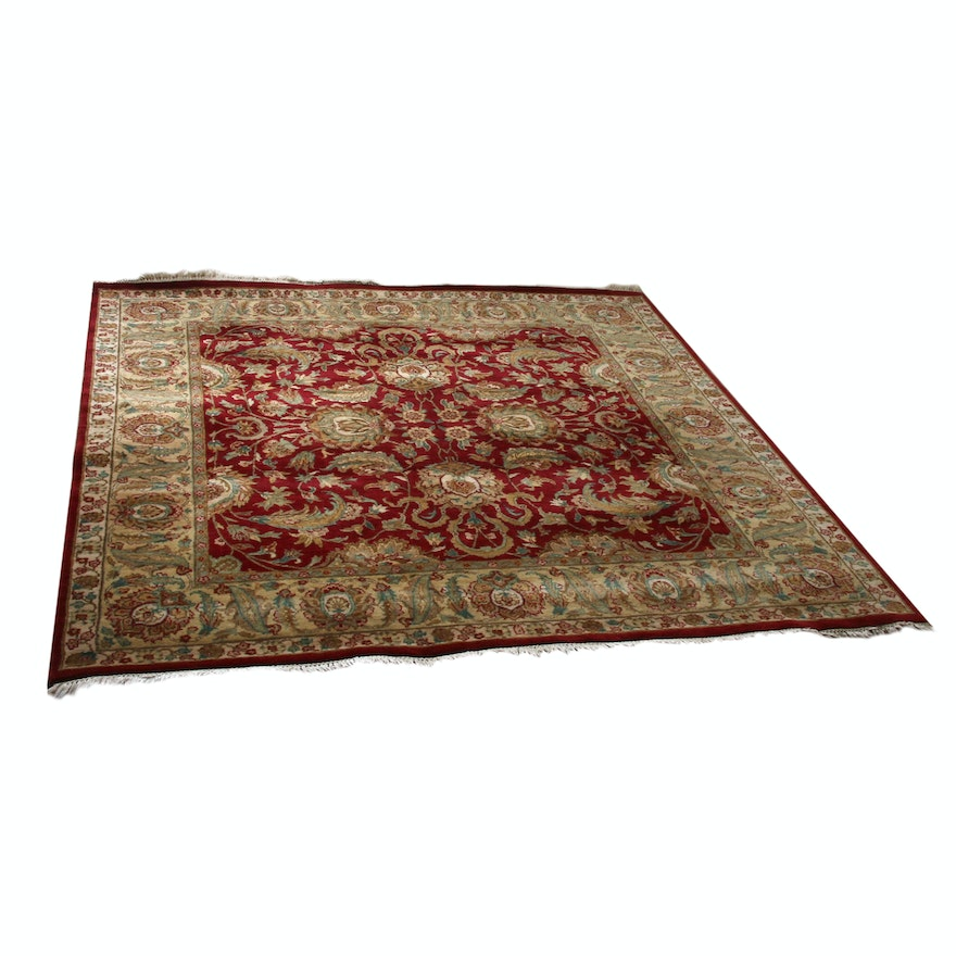 8' x 8'3 Hand-Knotted Persian Tabriz Area Rug