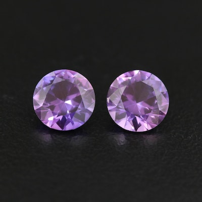 Loose Matched Pair of Color Changing Sapphires