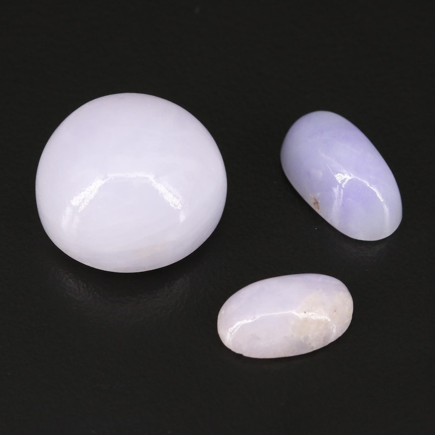 Loose Round and Oval Jadeite Cabochons