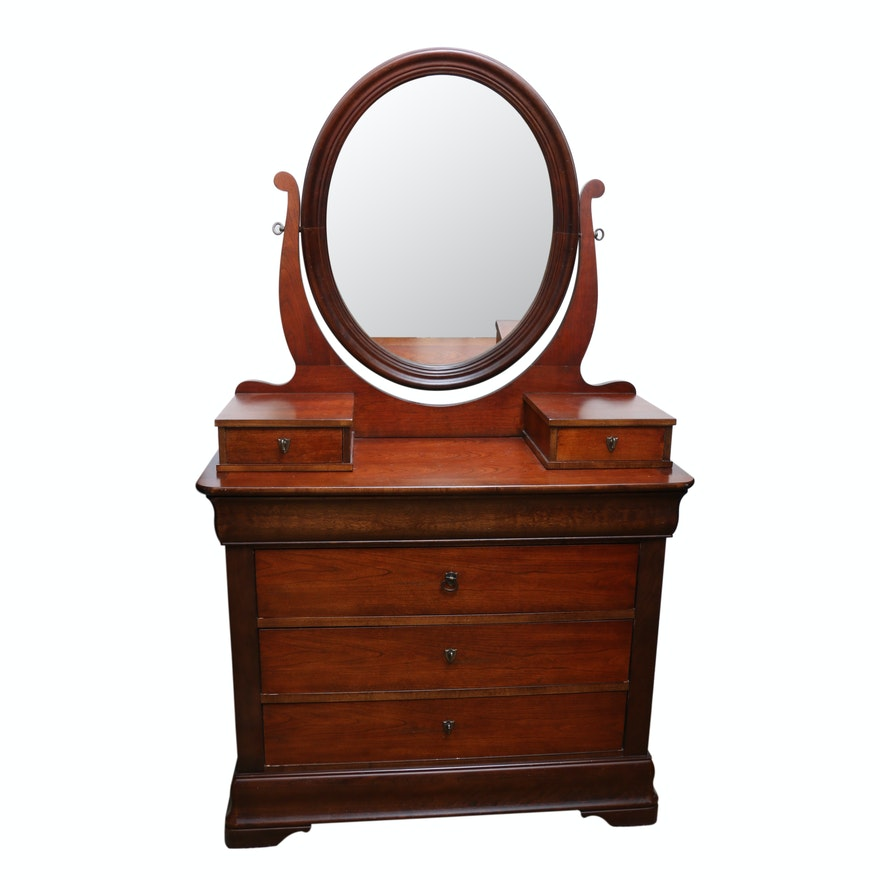 National Mt. Airy Louis Philippe Style Fruitwood Dresser, 20th Century