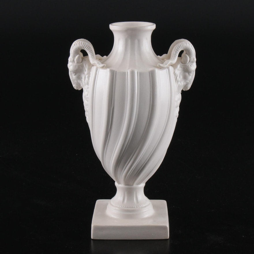Mintons Reproduction of a 18th Century Salt Glaze Urn, Early to Mid 20th