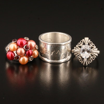 "Sterling Silver Rings Including Kabana and Shawn Killinger ""Hear my Soul Speak"""