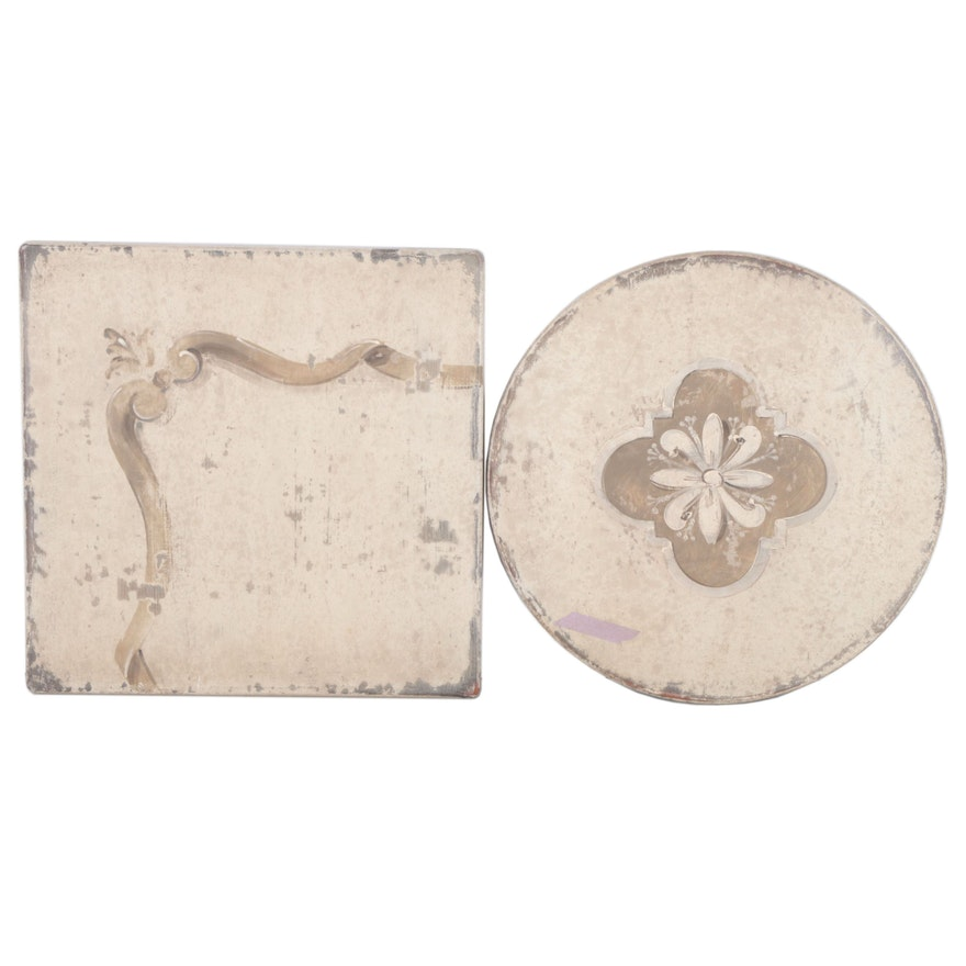 Arhaus Paint-Decorated Wooden Wall Decor