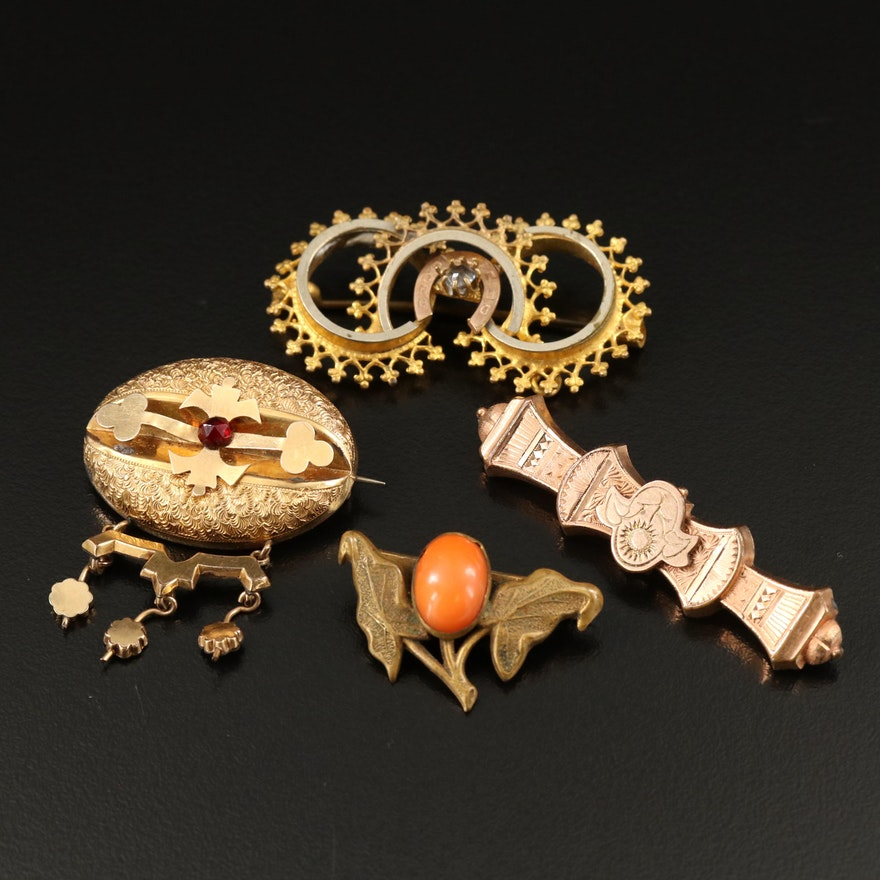Collection of Antique Brooches