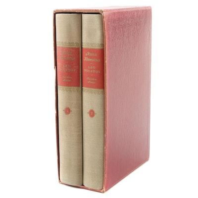 """Anna Karenina"" Two-Volume Set by Leo Tolstoy with Slipcase, 1939"