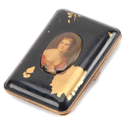 Mondaine Enameled Make-Up Compact, Early 20th Century
