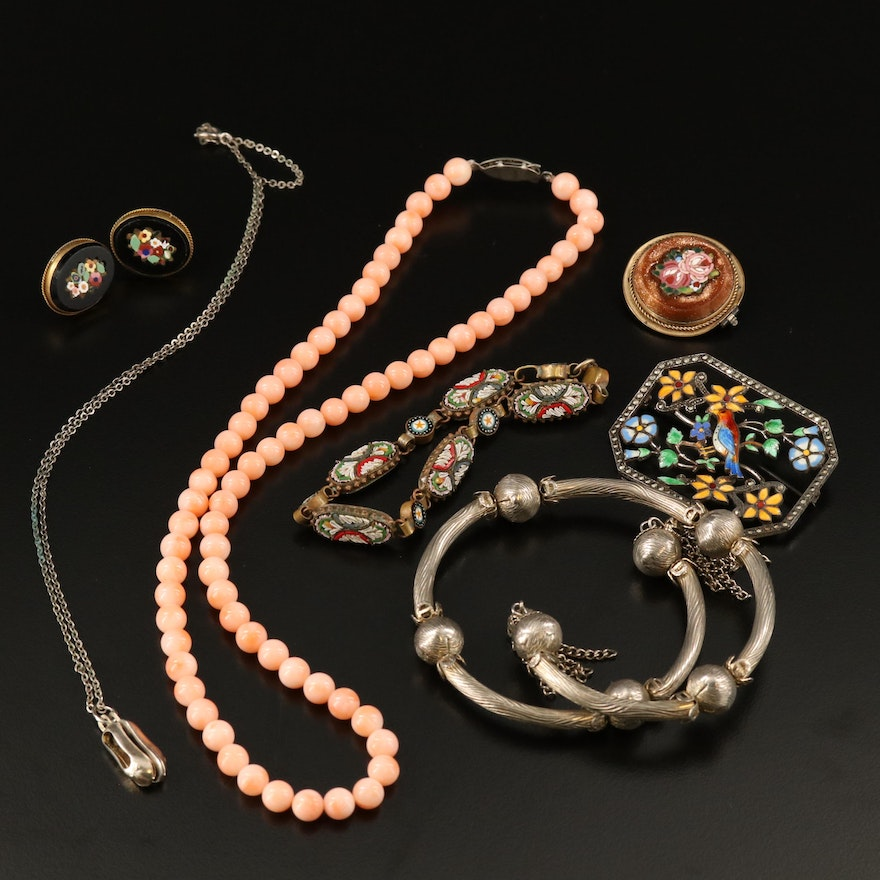 Antique and Vintage Jewelry Including Micromosaic Pieces