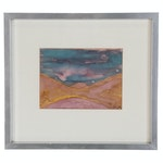 Abstract Landscape Watercolor Painting, 1975