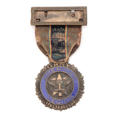 "1934 American Legion ""U.S. Steel City"" (Gary, Indiana) Convention Badge"