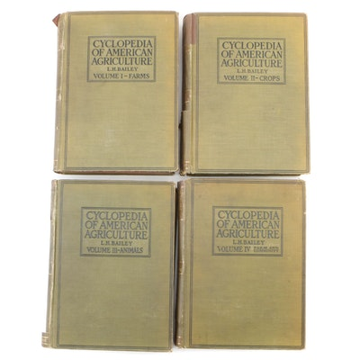 "First Edition ""Cyclopedia of American Agriculture"" Four-Volume Set, 1907"