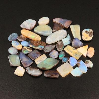 Loose 80.84 CTW Opal and Boulder Opal Mixed Cut Cabochons
