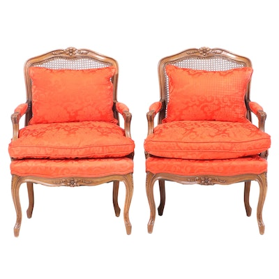Pair of Louis XV Style Beech Fauteuils, 20th Century