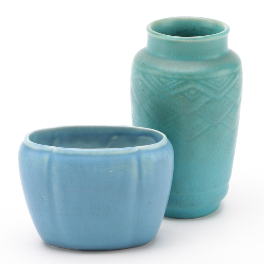 Rookwood Pottery Matte Glaze Production Vases, Early 20th Century