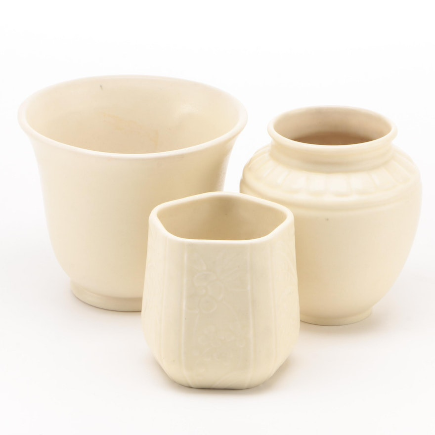 Rookwood Pottery Matte White Glaze Production Vases