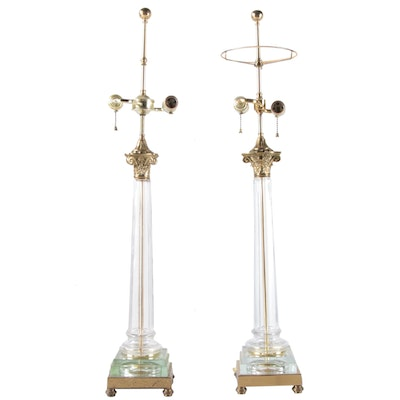 Classical Style Glass and Metal Table Lamp Bases